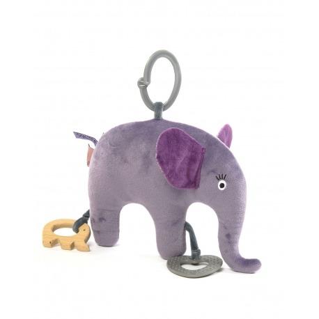 Smallstuff blød elefant lilla