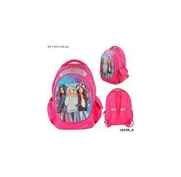 Topmodel skoletaske pink med tre venner