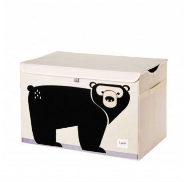 3 Sprouts opbevarings kasse med låg bjørn