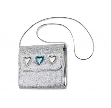 En fin lille sølv taske med hjerter