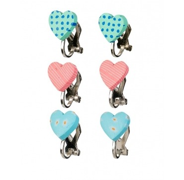 Klipse øreringe hjerter
