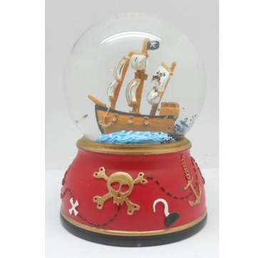 Glaskugle med Pirat skib