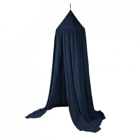 Sebra sengehimmel royal blå