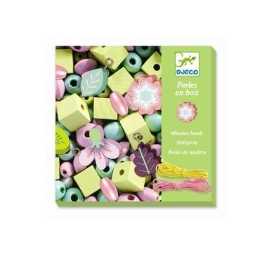 Djeco Træ perler i grønne farver
