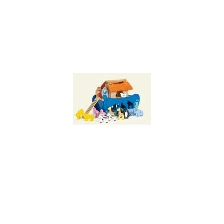 Noas Ark - Træ skib med figurer