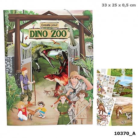 Dino Zoo klistermærker bog