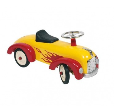 Racerbil - Gul med flammer