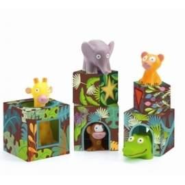 Djeco stabel tårn med vilde dyr
