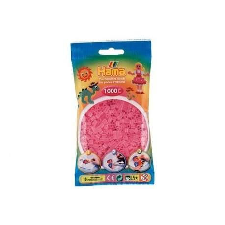 Hama perler gennemsigitige pink farve 72