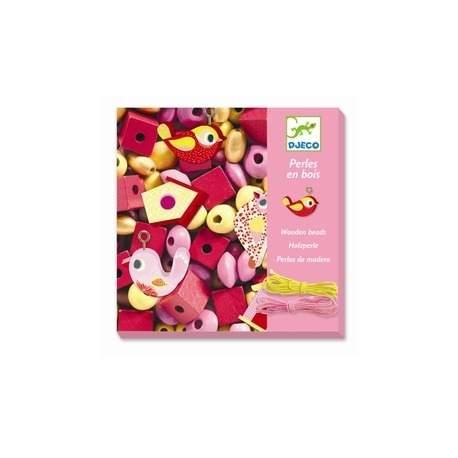 Smuk æske med fine perler rosa