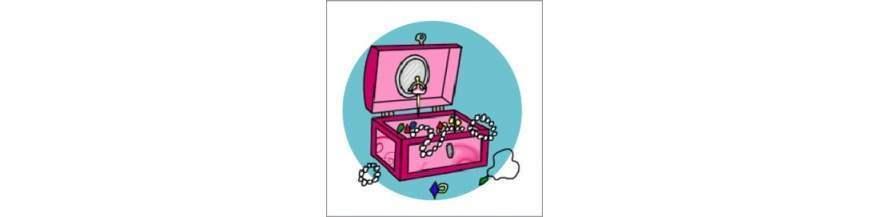 Trolde og Eventyr. Perler, smykkeskrin, Hårpynt