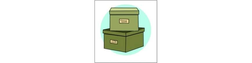 Trolde og Eventyr. Opbevarings kasser og kufferter.